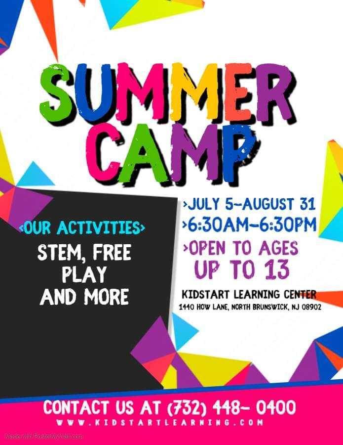 Kidstart Learning Center Summer Camp Flyer